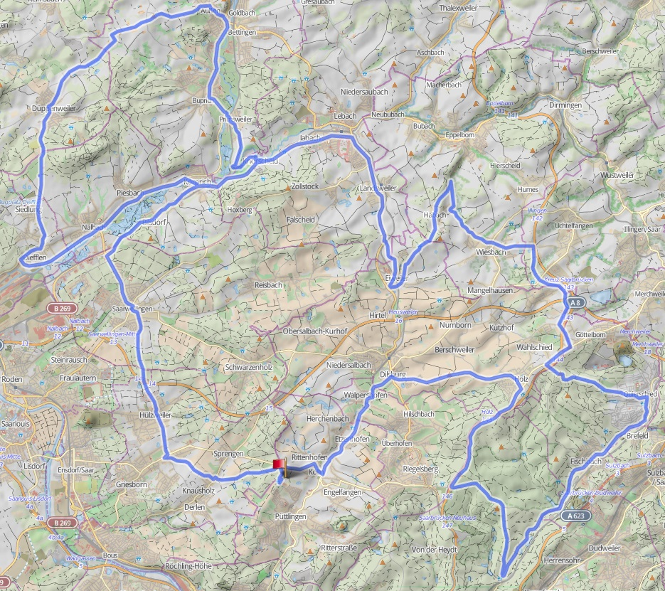 Übersicht RTF 2018 110km, Breitwies